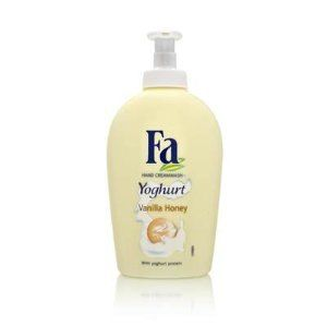 Fa Yoghurt Vanilla Honey Hand Cream, 250 ml by Abercrombie & Fitch. $9.00. Experience a unique washing sensation with the special cream soap from Fa - a combination of pleasant freshness and gentle care.  The light, creamy formula, enriched with yoghurt protein and honey extract, provides your hands with gentle care and cleans them mildly without drying them out.  Pamper yourself with the pleasant sense of freshness and well-being of Fa Yoghurt cream soap.  pH skin-...