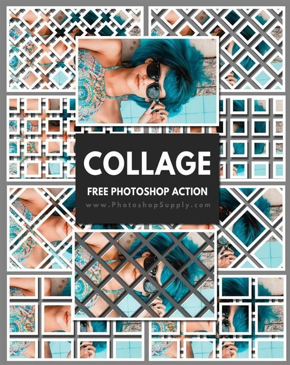 Geometric Photo Collage Template