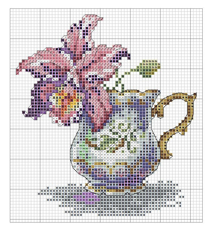 Cross Stitch - Orchid Tea