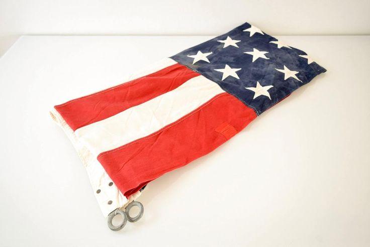 Huge Vintage 48 Star Cloth American Flag