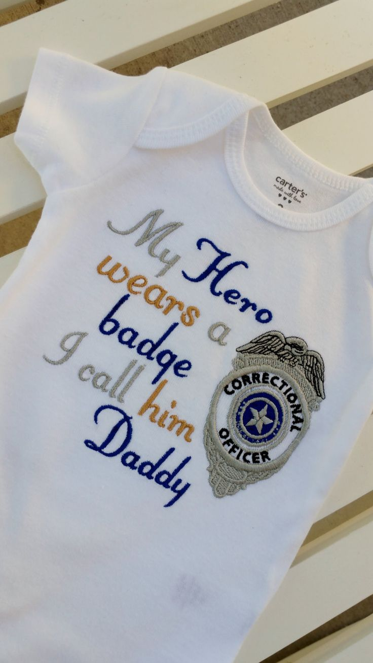My Hero wears a badge I call him Daddy/her Mommy - CORRECTIONAL OFFICER - Any Official Police Sheriff, Deputy Officer Branch Any Star Badge by GumballsOnline on Etsy