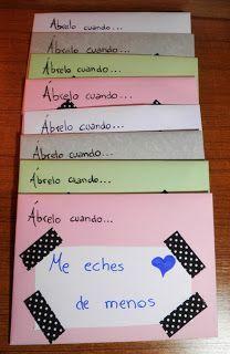 """Regalos manuales de amor: Cartas """"ábrela cuando..."""":                                                                                                                                                                                 Más"""