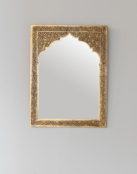 Hand Chiselled Brass Moroccan Mirror- Arabic Style