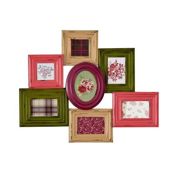 Coloured Frames Grouped Together. Could Do This To Tie In The Colour Scheme  Of Your Room With Just Random Frames Painted To Match