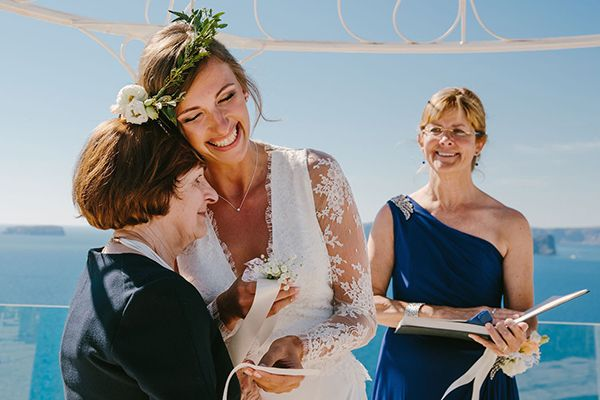 Boho wedding in Santorini | Nicole & Chris - Love4Wed