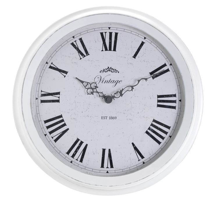 The sort of vintage-style clock you hope to find at an antiques fair, this will save you the search. Priced at £20.