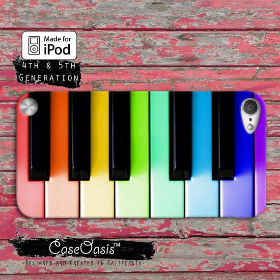 Piano Keys Music Rainbow Pink Colored Cute Case iPod Touch 4th Generation or iPod Touch 5th Generation Rubber or Plastic Case on Etsy, $14.99