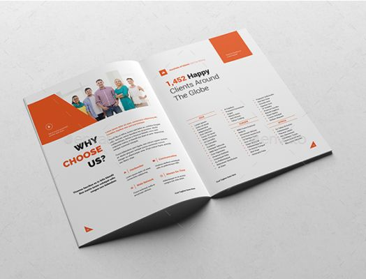 Best  Corporate Brochure Template Psd Eps Indesign Format