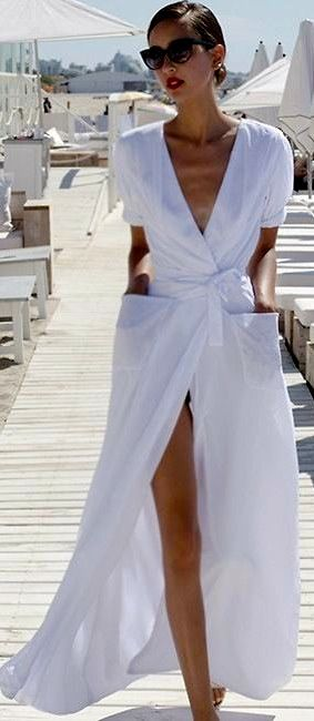 Summer style | White maxi cover up