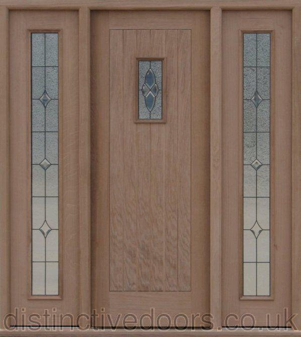 U0027Croftu0027 Triple Glazed Oak Elegant Entrance Door Set