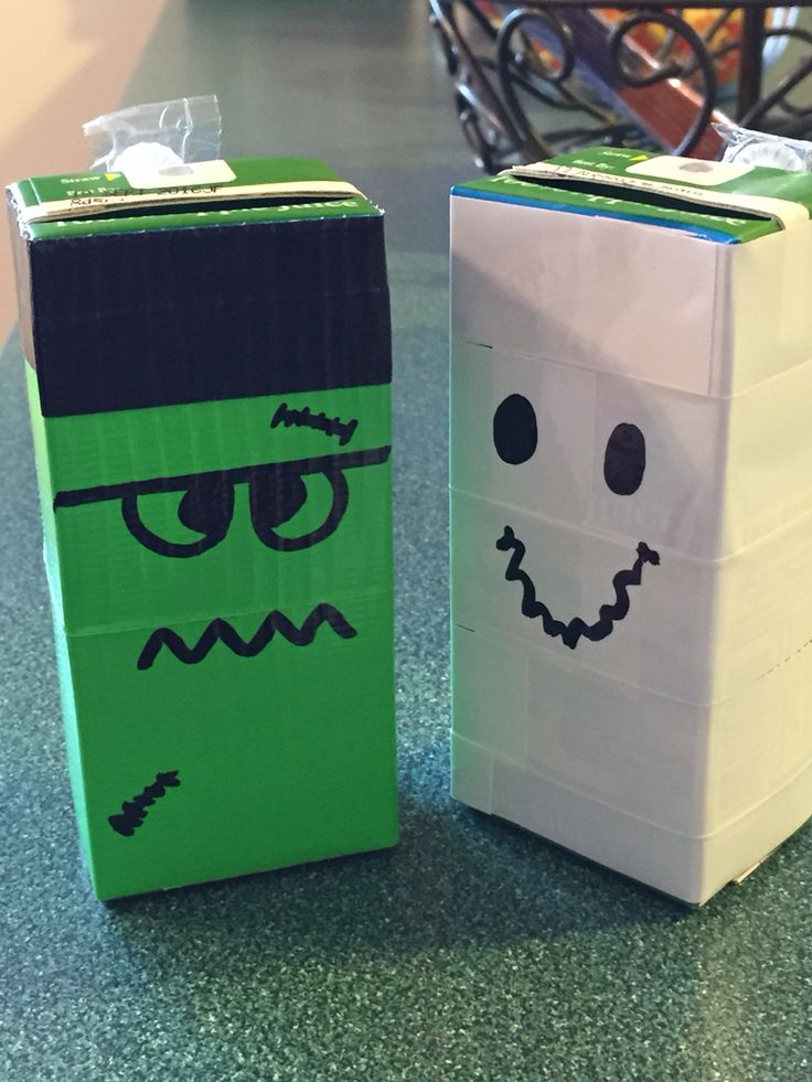 Monster Halloween Juice Boxes! Perfect for pre-school parties!   Fall ...
