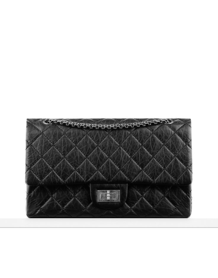 Large 2.55 flap bag in quilted... - CHANEL