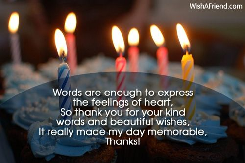 Thank You For The Birthday Wishes Happy birthday