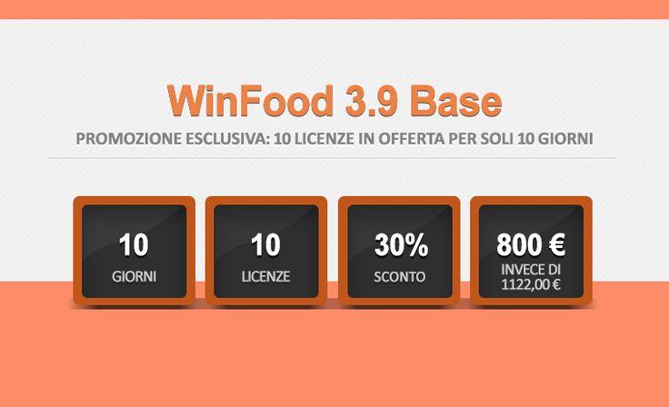 WinFood 3.9 Base - Promozione esclusiva: 10 licenze in offerta per 10 giorni