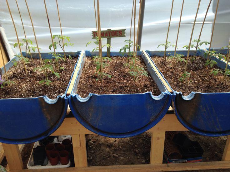 Plastic Drum barrel raised bed table greenhouse