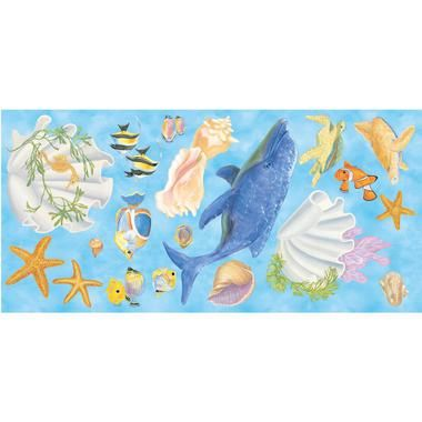 Mural Portfolio Under The Sea Accent Pieces Blue Mural Wallpaper JV6009MMP