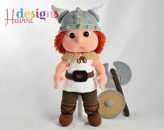 PATTERN Tommy With Viking Costume by HavvaDesignAmigurumi on Etsy