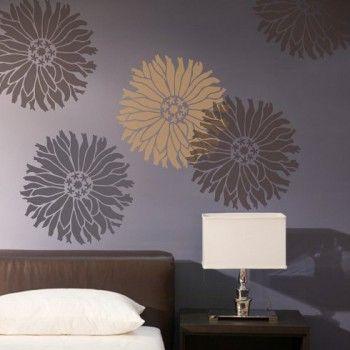 Flower stencils zinnia stencil for walls floral design