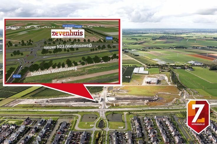 De aansluiting van de N23 Westfrisiaweg op bedrijventerrein Zevenhuis en de Strip wordt ongelijkvloers.  Het Zevenhuis en de Strip worden door een zogenaamde Haarlemmermeeraansluiting aangesloten. De haarlemmermeeraansluiting (ook wel haarlemmermeeroplossing of diamantaansluiting genoemd)