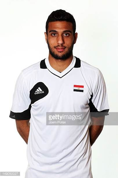 Ahmed El Shenawi of the Egypt Men's Olympic Football Team at the Hilton Hotel on July 22 2012 in Cardiff Wales