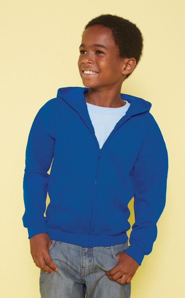 Gildan 18600B Youth Zipped Hoodie from X-it Corporate
