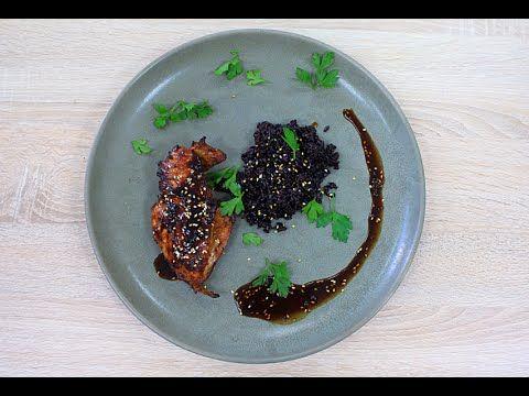 Куриная грудка Терияки и Чёрный рис / Teriyaki Chicken Breast and Black rice - YouTube
