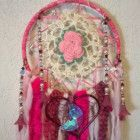 Bohemian Crochet Lace Dream Catcher, handmade by Dreamcatcherman
