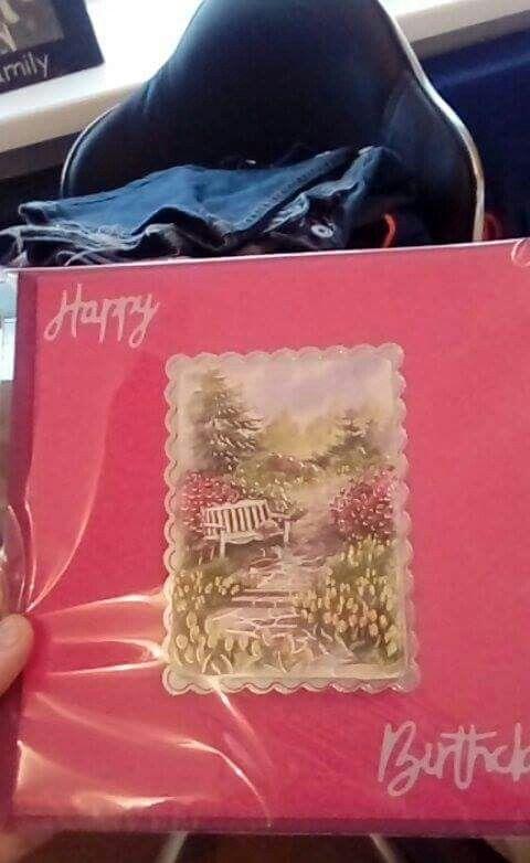 Garden bday card