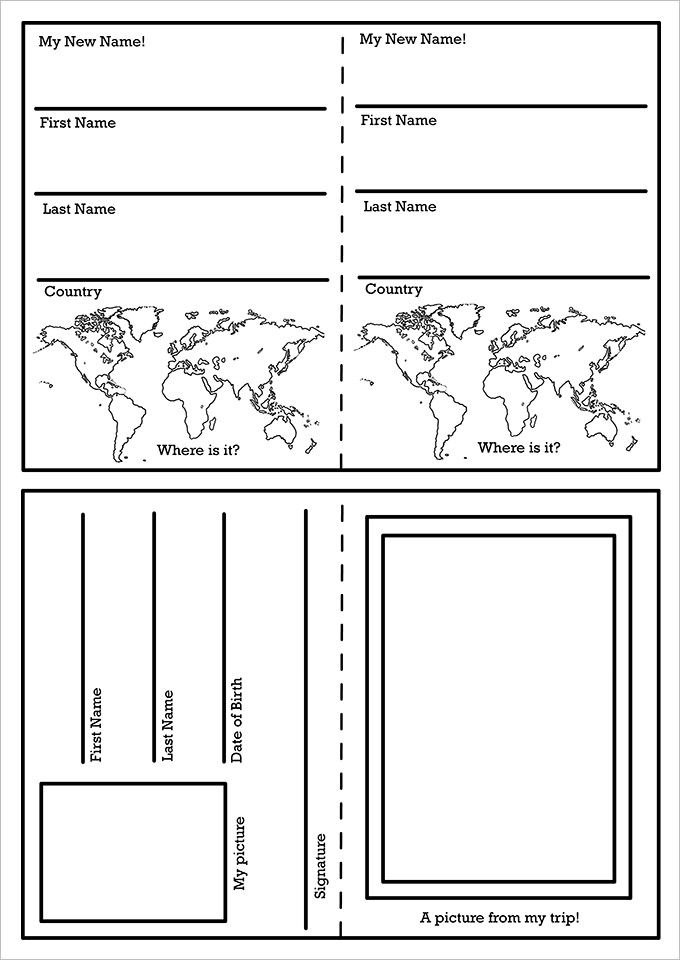 Passport Template 19 Free Word PDF PSD Illustrator Format