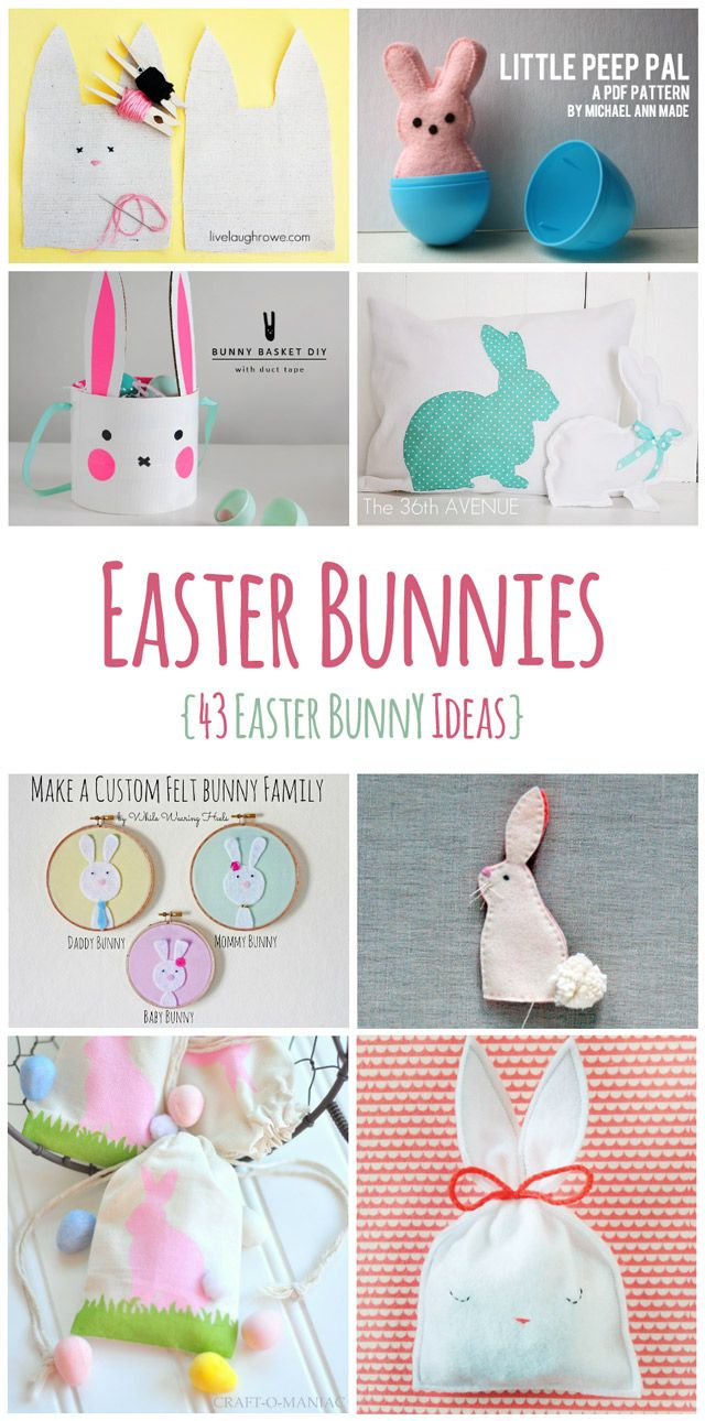 43 DIY Easter Bunny Ideas ! - Lots of Easter Bunnies!