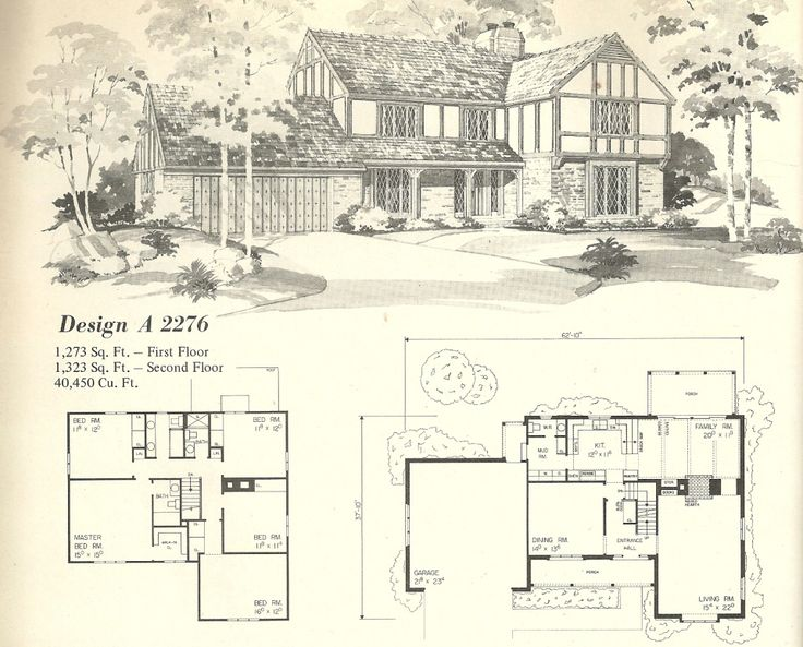 Vintage house plans 1970s homes tudor style vintage for English tudor house plans