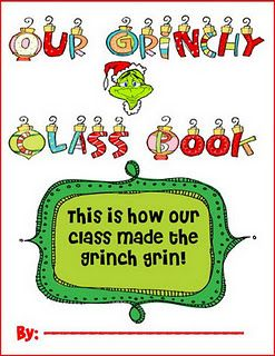 """Cute! The kids draw their own pictures for how they made """"the grinch grin!"""". Love it.: Classroom, Christmas Class, Grinch Grin, Teaching Ideas, Chalk Talk, Grinch Class, Kindergarten Blogs, Class Book, Stole Christmas"""