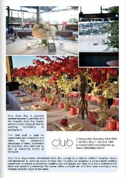 Wedding Style Guide ~ online mag  #Clubrosebay #deckbarlounge   Spring 2012  http://weddingstyleguide.com.au/