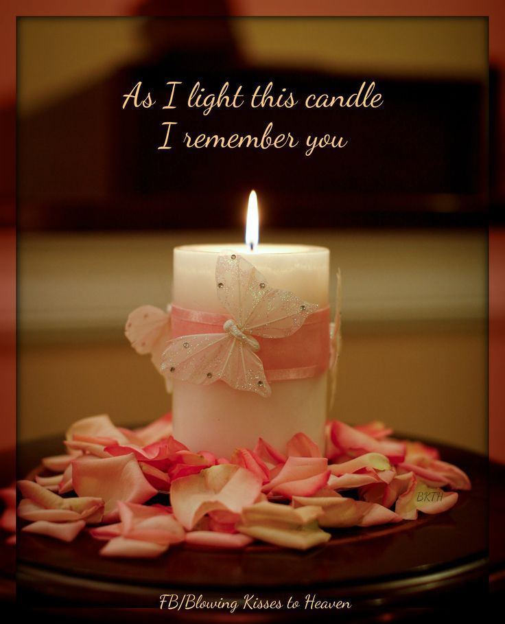 Keeping a candle lit in memory of my Angel in Heaven