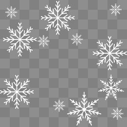 White Snowflakes Floating Material Christmas Floating Material Snowflakes White Snowflake