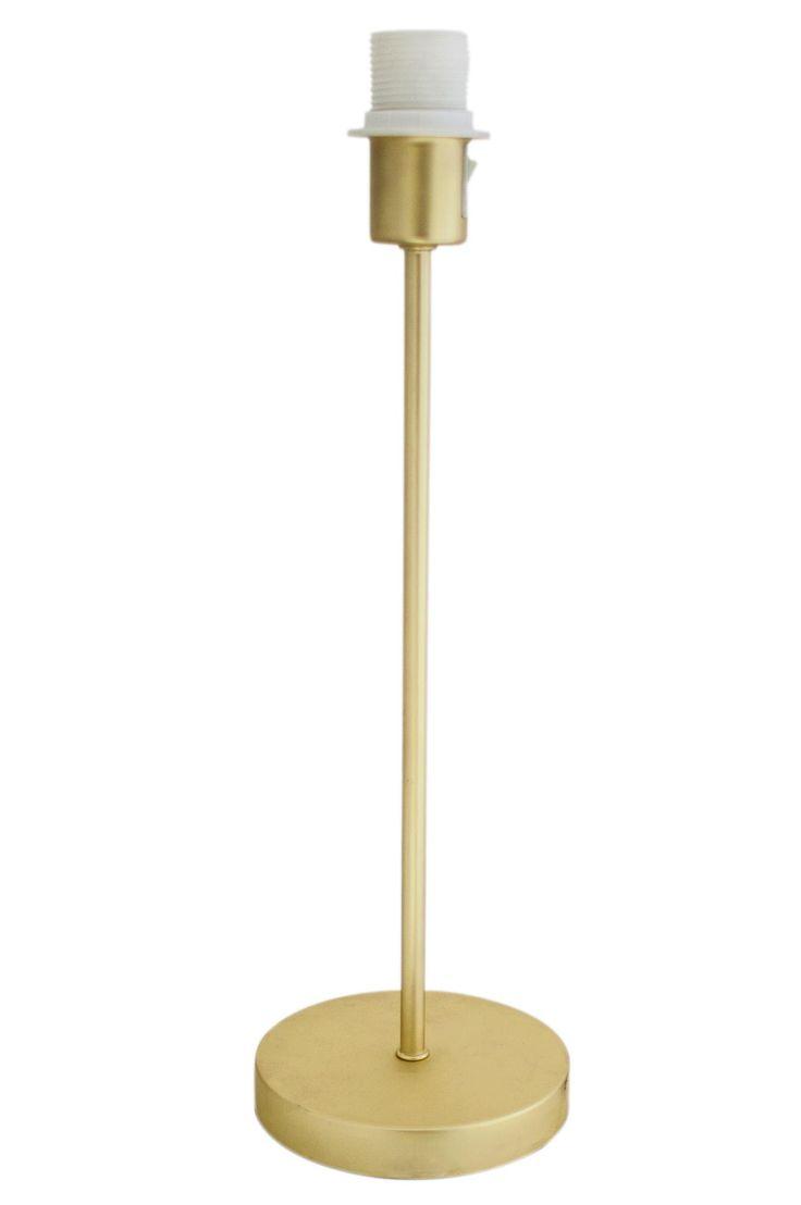 Lampfot i metall. H: 46 cm, Ø: 15 cm. E27 stor sockel max 40W(ingår ej) 2 m kabel med brytare.