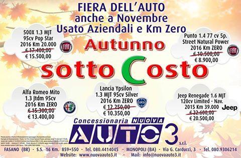 Anche a Novembre prosegue la Promozione SottoCosto  USATO - AZIENDALI E KM ZERO  Vieni a trovarci.