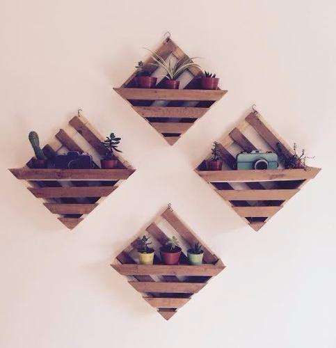 porta maceta de madera | jardin vertical
