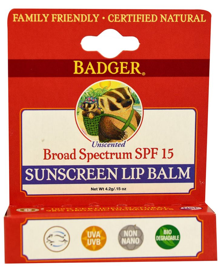 Badger Sunscreen Lip Balm SPF15