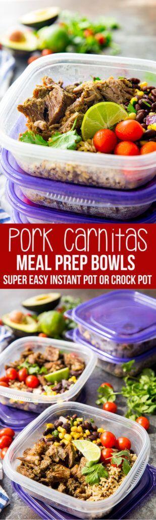 Easy Pork Carnitas Meal Prep Bowls