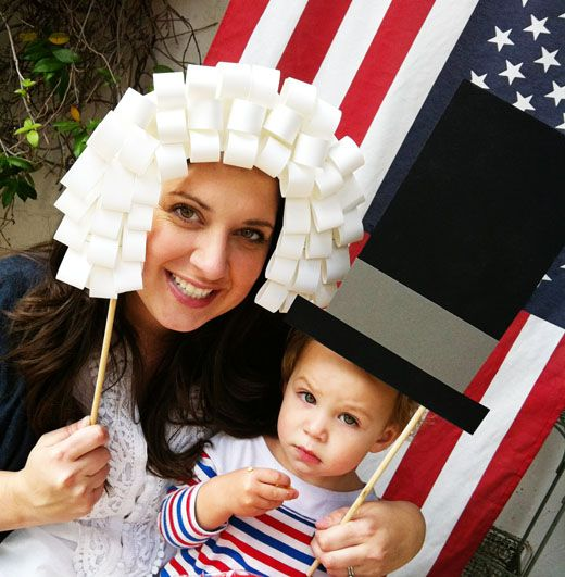 Fun DIY photo props for PresidentsDay.