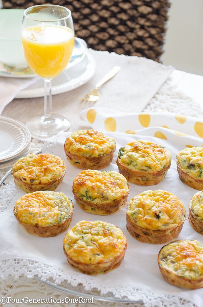 How to make cottage cheese quiche muffins with cottage cheese, eggs, half and half and chopped veggies. Perfect addition to your Easter menu.