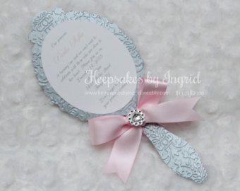 Princess Mirror Invitation Set of 8 by AnEnchantedFairytale