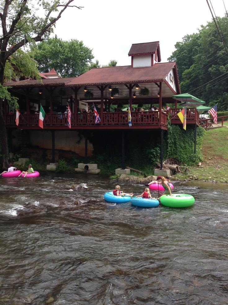 Helen, GA- tubing down the Chattahoochee River...so much fun!