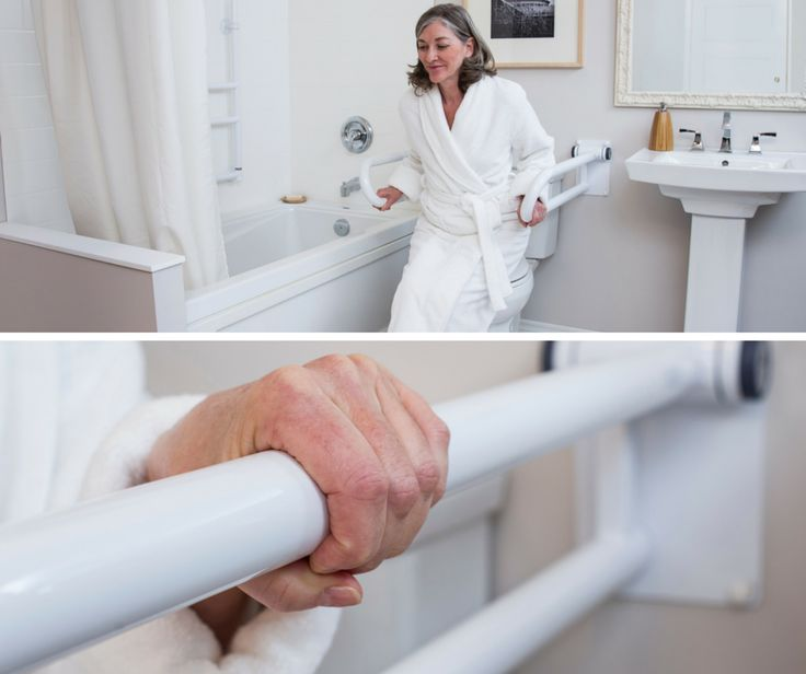 PT Rail™  HealthCraft's PT Rail is the perfect toilet safety rail for providing support and comfort during transitional movements. Unlike traditional bathroom safety rails, the PT Rail has innovative off-set rails to offer support at different heights while avoiding wrist contact and potential pain. This product also features strong compression hinges that provide secure support and keep the rail from falling – even if it is half way up.