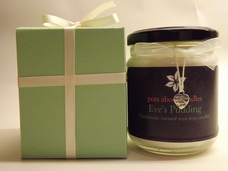 Our own unique blend - Wonderful scent of apples baked in vanilla sponge. £9.00 when you buy the candle and gift box at www.potsaboutcandles.com. Take advantage of our special FREE postage offer when you spend over £30.00.