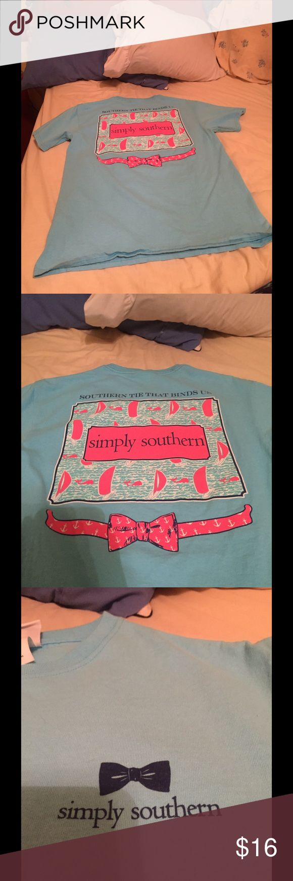 Simply southern shirt Super cute simply southern shirt. Wore the most of 2 times. In excellent condition just have too many simply southern shirts. Lowest price is $13!!!! Can bundle all 3 simply southern shirts for $35or 2 for $25!! Let me know if you have any questions! Tops Tees - Short Sleeve