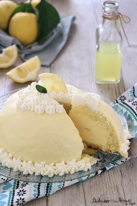 Ricetta Delizia al limone torta a forma di zuccotto al limone ricetta Dulcisss in forno by Leyla