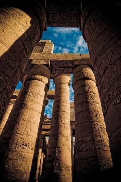 Karnak Sightseeing Trips; Great Hypostyle at Karnak Temple 1200 BC, Egypt.  #Egypt #Luxor #Karnak #Sightseeing #Holidays