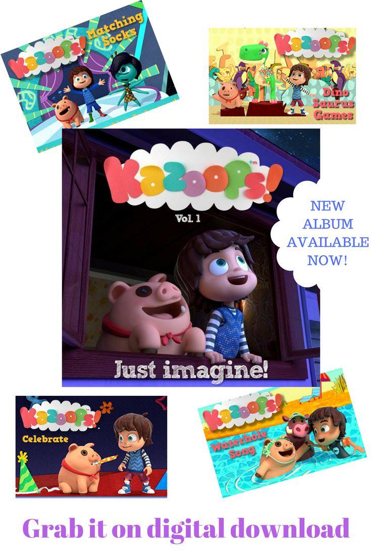 Popular cbeebies kids tv show kazoops has released it s first album just imagine volume 1